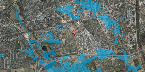 Oversvømmelsesrisiko fra vandløb på Hyrdeengen 57, 2625 Vallensbæk
