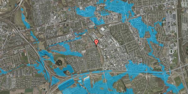 Oversvømmelsesrisiko fra vandløb på Hyrdeengen 73, 2625 Vallensbæk