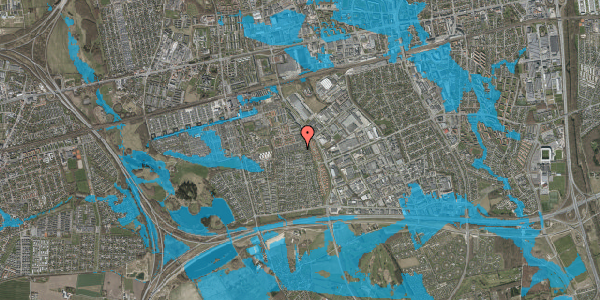 Oversvømmelsesrisiko fra vandløb på Hyrdeengen 141, 2625 Vallensbæk