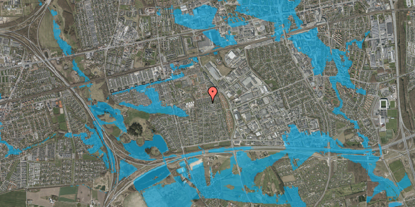 Oversvømmelsesrisiko fra vandløb på Hyrdeengen 243, 2625 Vallensbæk