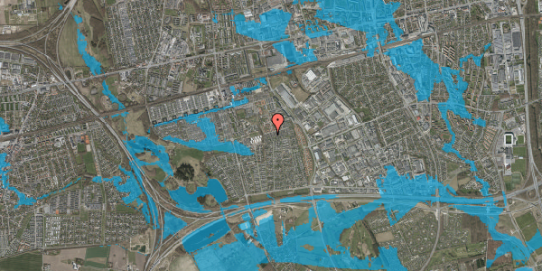 Oversvømmelsesrisiko fra vandløb på Hyrdeengen 323, 2625 Vallensbæk