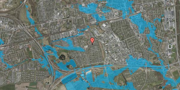 Oversvømmelsesrisiko fra vandløb på Hyrdeengen 341, 2625 Vallensbæk
