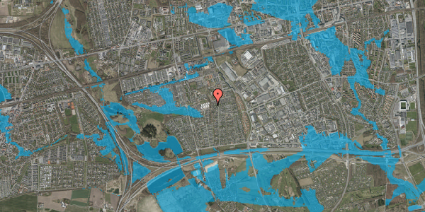 Oversvømmelsesrisiko fra vandløb på Hyrdeengen 371, 2625 Vallensbæk