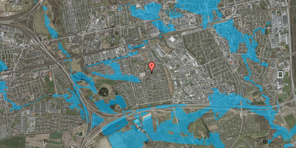 Oversvømmelsesrisiko fra vandløb på Hyrdeengen 373, 2625 Vallensbæk