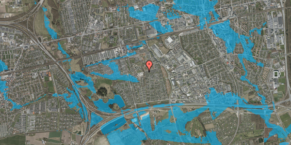 Oversvømmelsesrisiko fra vandløb på Hyrdeengen 387, 2625 Vallensbæk