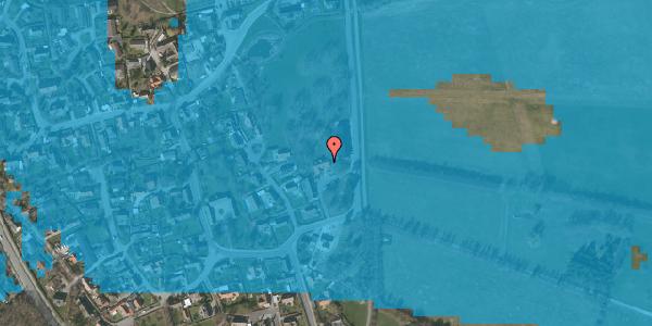 Oversvømmelsesrisiko fra vandløb på Højrupgårdsvej 1, 2625 Vallensbæk