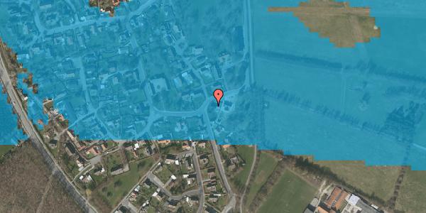 Oversvømmelsesrisiko fra vandløb på Højrupgårdsvej 2, 2625 Vallensbæk