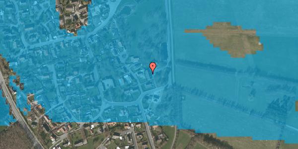 Oversvømmelsesrisiko fra vandløb på Højrupgårdsvej 3, 2625 Vallensbæk