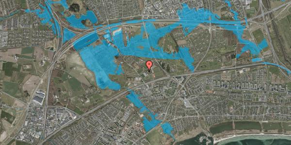 Oversvømmelsesrisiko fra vandløb på Idræts Alle 2, 2625 Vallensbæk