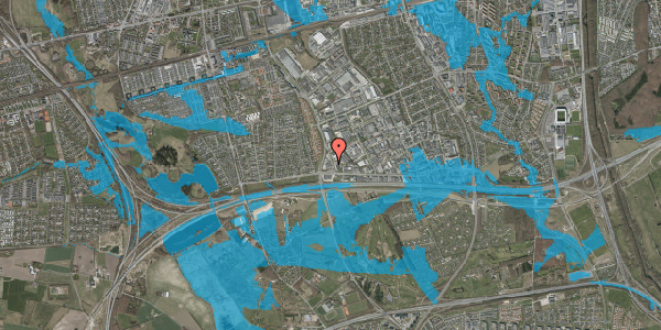 Oversvømmelsesrisiko fra vandløb på Jydekrogen 7, 2625 Vallensbæk