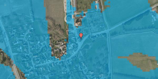 Oversvømmelsesrisiko fra vandløb på Kirkebakke Alle 2, 2625 Vallensbæk