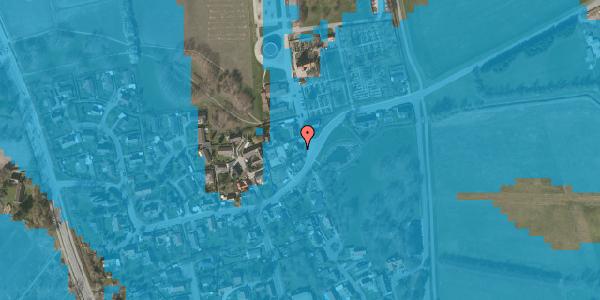 Oversvømmelsesrisiko fra vandløb på Kirkebakke Alle 3, 2625 Vallensbæk