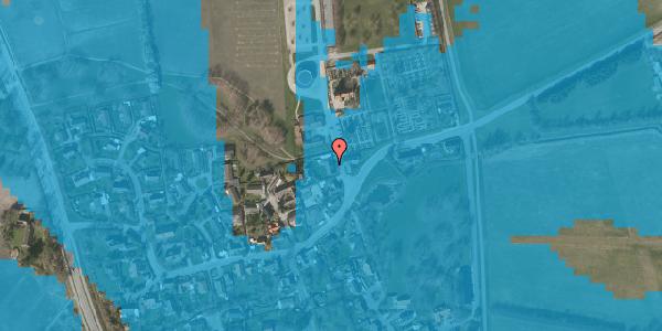 Oversvømmelsesrisiko fra vandløb på Kirkebakke Alle 5, 2625 Vallensbæk