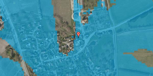 Oversvømmelsesrisiko fra vandløb på Kirkebakke Alle 7, 2625 Vallensbæk