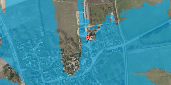 Oversvømmelsesrisiko fra vandløb på Kirkebakke Alle 9, 2625 Vallensbæk