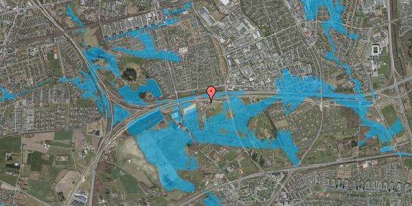 Oversvømmelsesrisiko fra vandløb på Kirkebakke Alle 13, 2625 Vallensbæk