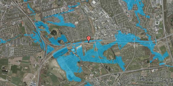Oversvømmelsesrisiko fra vandløb på Kirkebakke Alle 15, 2625 Vallensbæk