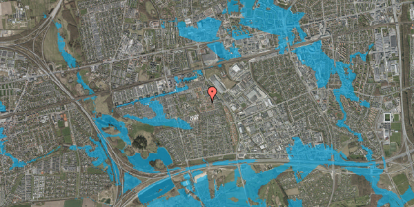 Oversvømmelsesrisiko fra vandløb på Liljeparken 4, 2625 Vallensbæk