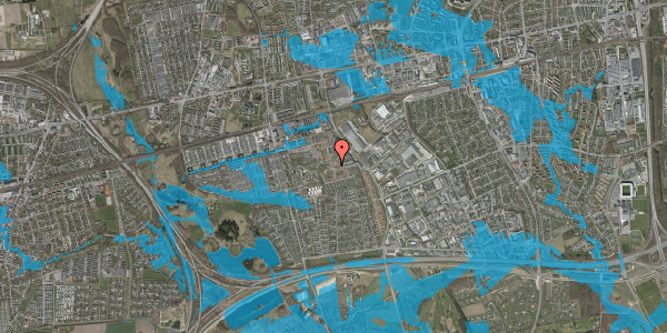 Oversvømmelsesrisiko fra vandløb på Liljeparken 11, 2625 Vallensbæk