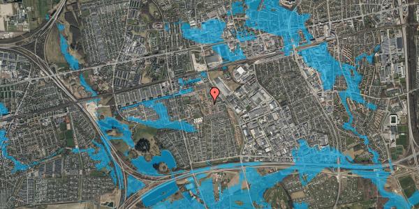 Oversvømmelsesrisiko fra vandløb på Liljeparken 13, 2625 Vallensbæk