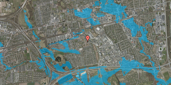 Oversvømmelsesrisiko fra vandløb på Liljeparken 16, 2625 Vallensbæk