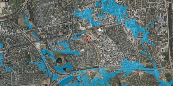 Oversvømmelsesrisiko fra vandløb på Liljeparken 19, 2625 Vallensbæk