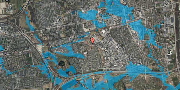 Oversvømmelsesrisiko fra vandløb på Liljeparken 22, 2625 Vallensbæk