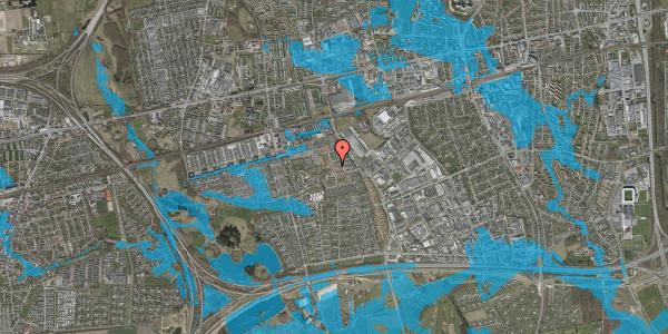 Oversvømmelsesrisiko fra vandløb på Liljeparken 24, 2625 Vallensbæk