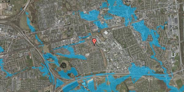 Oversvømmelsesrisiko fra vandløb på Liljeparken 27, 2625 Vallensbæk