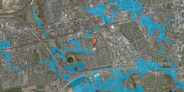 Oversvømmelsesrisiko fra vandløb på Løkkekrogen 4, 2625 Vallensbæk