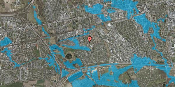 Oversvømmelsesrisiko fra vandløb på Løkkekrogen 5A, st. 13, 2625 Vallensbæk