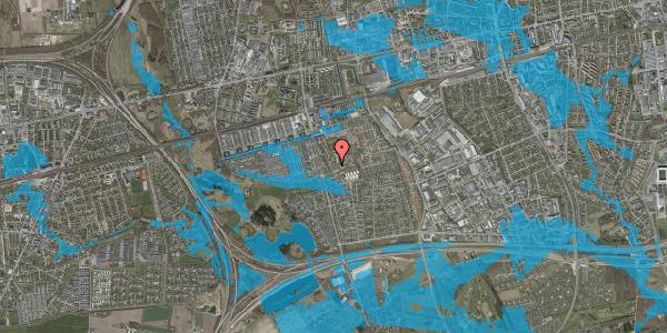 Oversvømmelsesrisiko fra vandløb på Løkkekrogen 5B, st. 21, 2625 Vallensbæk