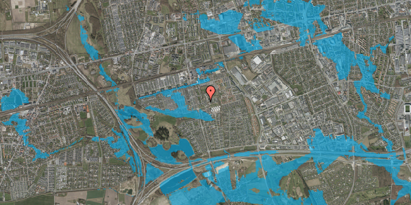Oversvømmelsesrisiko fra vandløb på Løkkekrogen 5C, st. 31, 2625 Vallensbæk