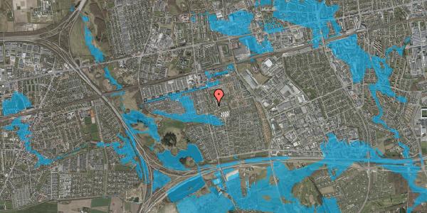 Oversvømmelsesrisiko fra vandløb på Løkkekrogen 5D, st. 40, 2625 Vallensbæk