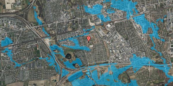 Oversvømmelsesrisiko fra vandløb på Løkkekrogen 5D, st. 43, 2625 Vallensbæk