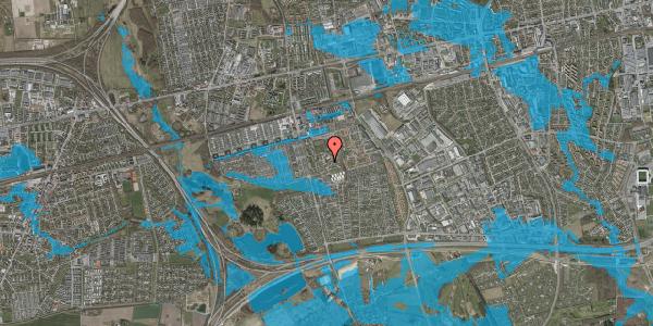 Oversvømmelsesrisiko fra vandløb på Løkkekrogen 11A, 2625 Vallensbæk