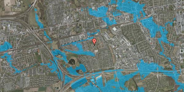Oversvømmelsesrisiko fra vandløb på Løkkekrogen 11B, 2625 Vallensbæk