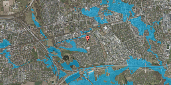 Oversvømmelsesrisiko fra vandløb på Løkkekrogen 11C, 2625 Vallensbæk