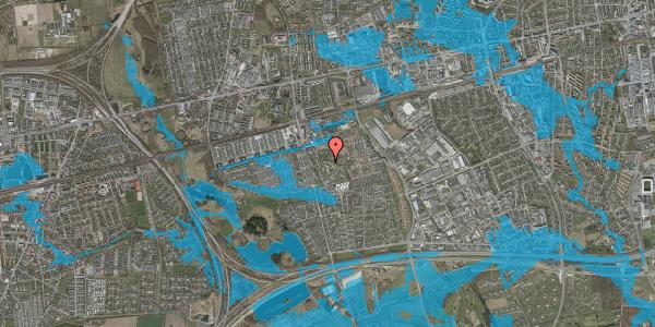 Oversvømmelsesrisiko fra vandløb på Løkkekrogen 11E, 2625 Vallensbæk