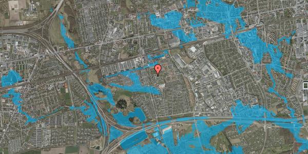 Oversvømmelsesrisiko fra vandløb på Løkkekrogen 11F, 2625 Vallensbæk