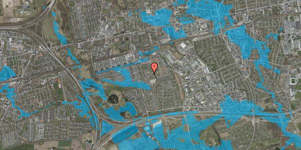 Oversvømmelsesrisiko fra vandløb på Løkkekrogen 18, 2625 Vallensbæk