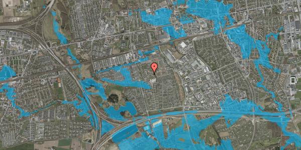 Oversvømmelsesrisiko fra vandløb på Løkkekrogen 20, 2625 Vallensbæk