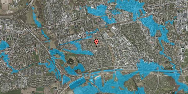 Oversvømmelsesrisiko fra vandløb på Løkkekrogen 22, 2625 Vallensbæk