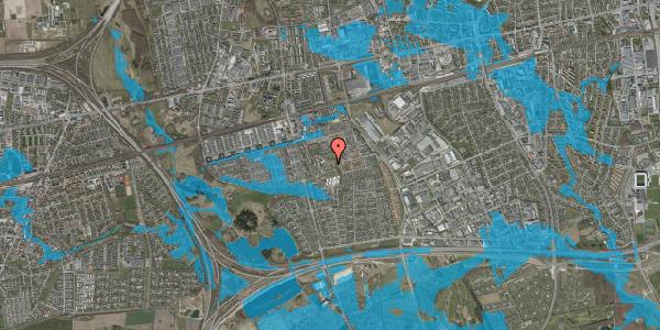Oversvømmelsesrisiko fra vandløb på Løkkekrogen 32, 2625 Vallensbæk