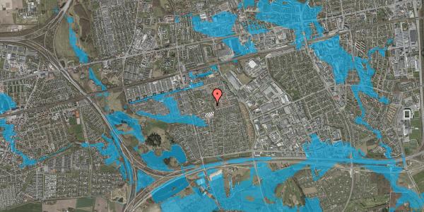 Oversvømmelsesrisiko fra vandløb på Løkkekrogen 46, 2625 Vallensbæk