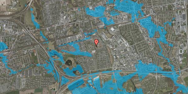 Oversvømmelsesrisiko fra vandløb på Løkkekrogen 50, 2625 Vallensbæk