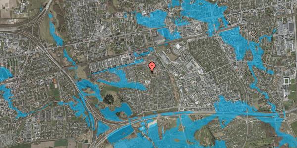 Oversvømmelsesrisiko fra vandløb på Løkkekrogen 52, 2625 Vallensbæk