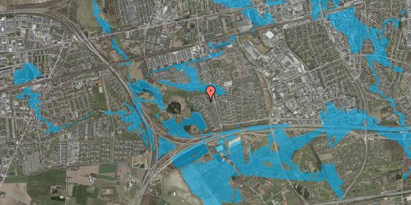 Oversvømmelsesrisiko fra vandløb på Løkketoften 1, 2625 Vallensbæk