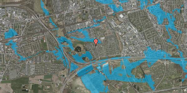 Oversvømmelsesrisiko fra vandløb på Løkketoften 4, 2625 Vallensbæk
