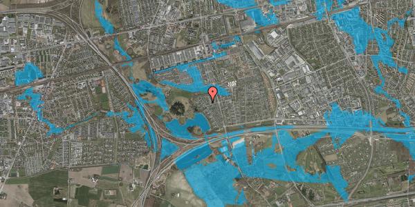 Oversvømmelsesrisiko fra vandløb på Løkketoften 5, 2625 Vallensbæk